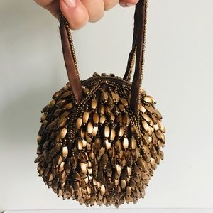 Handbags - Mini brown evening dressy rare bag